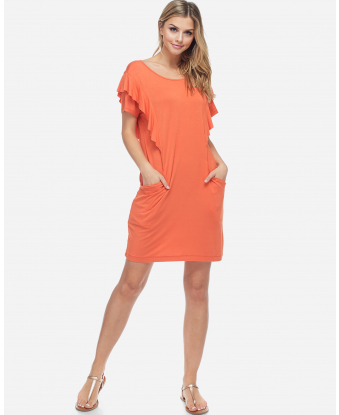 Fever Side Ruffle Dress