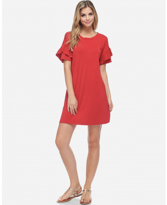 Fever Ruffle Sleeve Dress