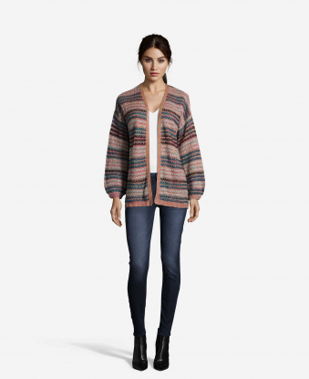 Striped Novelty Cardigan