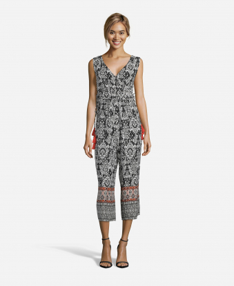 Black & White Printed Jumpsuit