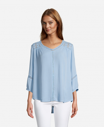 JohnPaulRichard Lace Trim Blouse