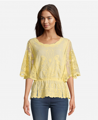 JohnPaulRichard Embroidered Blouse
