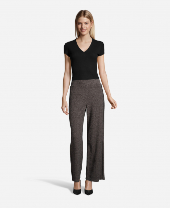 Side Stripe Speckled Pants