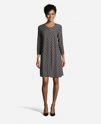Ice Grey Striped Dress