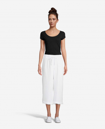 JohnPaulRichard Ivory Cropped Pants
